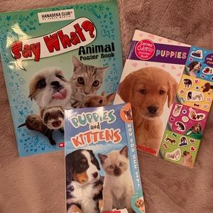 Set of 3 Animal (Puppies & Kittens) Books